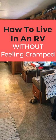 LIVE IN AN RV WITHOUT FEELING CRAMPED. Have you ever wondered how you can live in an RC without feeling cramped? Check out how we're living full-time in an RV (with two kids) and have beat feeling cramped! by cassie Camper Life, Rv Campers, Rv Life, Happy Campers, Camper Van, Truck Camper, Travel Trailer Living, Rv Travel, Travel Nursing