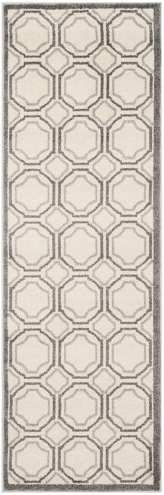 Safavieh AMT411E Amherst Indoor / Outdoor Power Loomed Polypropylene Rug 2 x 7 Home Decor Rugs Rugs