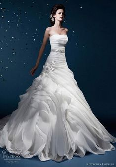 Beautiful wedding dresses from Kittychen Couture 2012 bridal collection.