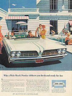 Pontiac Bonneville Convertible 1961 Fitzpatrich, Van Kaufman AF/VK Artist Print AD