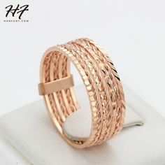 Hot Sale Vintage Rounds Party Finger Rings Rose Gold Plated Fashion Brand Punk Jewellery/Jewelry For Women Wholesale R131