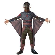 How to Train Your Dragon 2 Hiccup Costume - Toddler/Kids, Boy's, Size: 4-6, Brown
