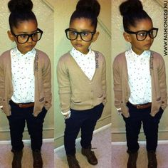 Cute tomboy, girly, cozy outfit. Maybe without the glasses :)
