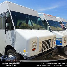 Three baby step vans that are ready to grow into adult food trucks! #food #foodtruck #foodtrucks #business #orlando #florida #photooftheday #mobile #kitchen #equipment #cooking