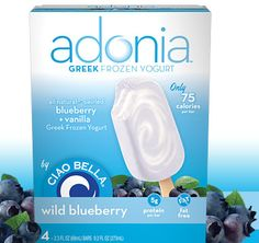 Glamour loves us!  Adonia Greek frozen yogurt bars: So tasty, and only 75 calories each!