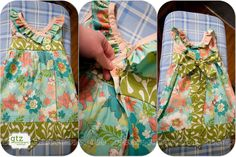 Baby and Toddler Wrap Dress Tutorial