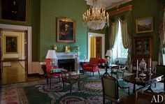 The Green Room, which served as Thomas Jefferson's dining room and James Monroe's parlor, was refreshed in 2007.