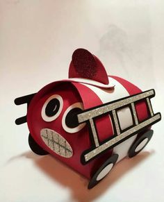 Curvy Box Fire Truck - adorable