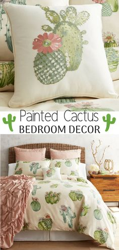 Art Pattern Cactus Printed Bedding Sets duvet Cover Set Beautiful painted cactus duvet cover and sham from Pier 1 Imports. Cactus Bedroom DecorBeautiful painted cactus duvet cover and sham from Pier 1 Imports. Bedroom Furniture Sets, Bedroom Sets, Home Decor Bedroom, Furniture Stores, Bedroom Rustic, Furniture Ideas, Bedroom Apartment, Kids Bedroom, Master Bedroom