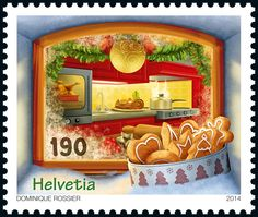 Swiss special stamp: Christmas – «Biscuits 2014