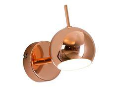 Austin wandlamp, koper