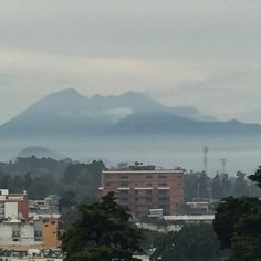 Pacaya volcano and Guatemala City