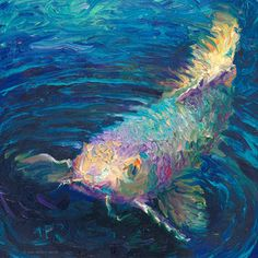 """""""In a Small Pond"""" inches oil paint on was painted live I just adore his little… Painting Inspiration, Art Inspo, Koi Painting, Finger Painting, Impressionism Art, Animal Paintings, Art Paintings, Fish Art, Canvas Artwork"""