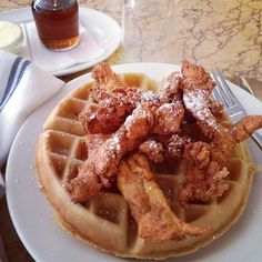 chicken and waffles... i really want to try this!!
