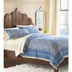 Indigo Block Print Bedding | VivaTerra