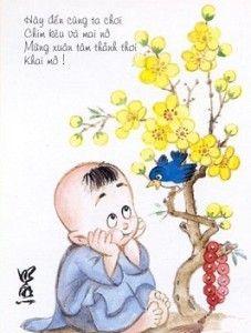 Hãy tải hình nền năm mới – Chú tiểu và mùa xuân cực hay bạn nhé! Hãy đến cùng ta chơi. Chim kêu và mai nở. Mùa xuân tâm thảnh thơi. Khai mở!