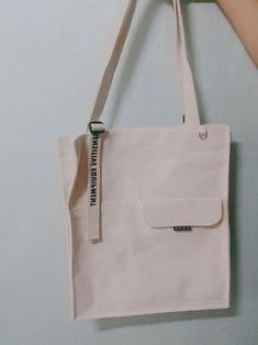 screenprint branding on strap runoff? Diy Tote Bag, Tote Backpack, Fabric Bags, Cotton Bag, Cloth Bags, Canvas Tote Bags, My Bags, Bag Making, Fashion Bags