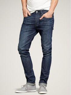 basicsofman:  Basic Man Recommends: Slouchy slim jeans (medium wash) (in my opinion these are) the perfect pair of jeans