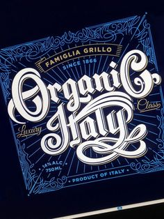 Organic Italy Wine Label by Paul Nolan