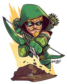 Chibi Green Arrow - Derek Laufman