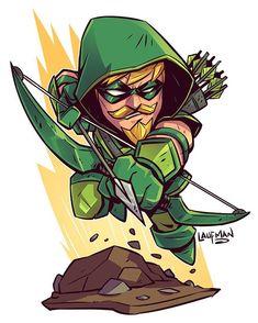 Chibi Green Arrow - Derek Laufman