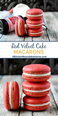 With amazing flavor, these Red Velvet Cake Macaron are the perfect way to show y. - With amazing flavor, these Red Velvet Cake Macaron are the perfect way to show y. Macaron Filling, Macaron Cake, Macaroon Cookies, French Macaroon Recipes, French Macaroons, Red Velvet Macaroons, Italian Macaron Recipe, Italian Macarons, Köstliche Desserts