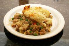 A pork and mashed potato casserole recipe, using leftover diced pork, frozen…