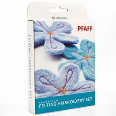 Look no further for your Pfaff creative felting embroidery set. Available to buy on-line from Sew Essential. Pfaff Creative, Kit, Types Of Weaving, Sewing Machine Accessories, Different Types Of Fabric, Felt Embroidery, Couture, Sewing Crafts, Punch