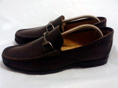 Florsheim 'Heavy Metal' Loafer Size 10 D Brown Smooth Leather.