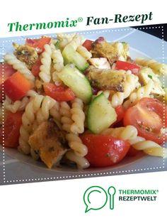 Sommerfrischer Nudelsalat  von Schokohase. Ein Thermomix ® Rezept aus der Kategorie Hauptgerichte mit Gemüse auf www.rezeptwelt.de, der Thermomix ® Community.