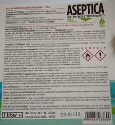 Bio Cleaner Aseptica kéz- és felületfertőtlenítő 1 liter - Aseptica kéz- és felületfertőtlenítő folyadék Bio Cleaner - Bio tisztítószerek, környezetbarát tisztítósterek, öko tisztítószerek - Bio-Cleaner Kft, Orgalco bio tisztítószerek Alcohol