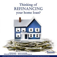 Why refinance? Well, there can be a lot of reasons. However one of the most common is to allow the borrower to obtain better interest rates and terms. The benefit of this is that lower rates translate to lower payments!   If you're thinking of refinancing your home loan or just have questions, we'd love to hear from you!  #BanasMortgageCo #Refinance