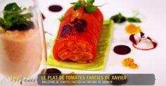 Ballotines de tomates farcies au tartare de saumon. Top chef. Xavier pincemin