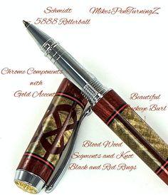 Custom Wooden Pen Beautiful Buckeye Burl with by MikesPenTurningZ