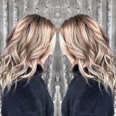 Color by Monica. Highlights, lowlights, winter blonde, hair color, Montana stylist.