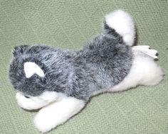 """7"""" Siberian Husky Plush Stuffed Puppy Dog Grey White Stretching Stuffed Animal #StuffedAnimalHouse"""