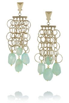 Etro + V&A gold-tone agate clip earrings | NET-A-PORTER