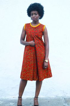 Ankara Print Dress African Print Dresscotton by JuanJayzzDesign More