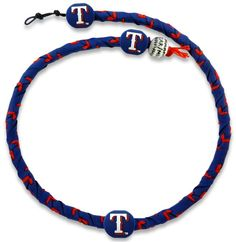 Texas Rangers Blue Team Color Frozen Rope Baseball Necklace Z157-4421404220