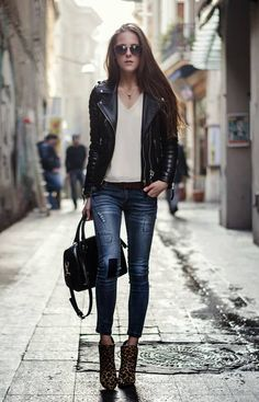 79 Best Leather Jacket Outfits Images Leather Jacket Leather Vest