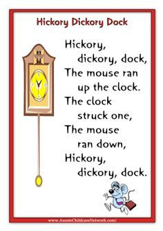 Nursery Rhyme Printables with pictures