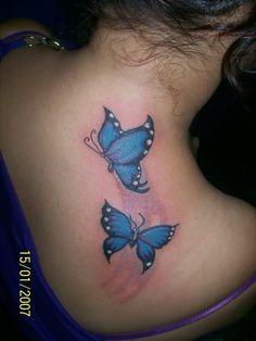 Blue butterflies tattoos butterfly tattoos images, blue butterfly t Butterfly Tattoos Images, Blue Butterfly Tattoo, Butterfly Tattoo On Shoulder, Butterfly Tattoo Designs, Shoulder Tattoo, Tattoo Images, Hot Tattoos, Body Art Tattoos, Girl Tattoos
