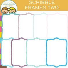 FREE Scribble Frames Clip Art - TWO
