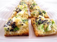 ChowGals: {MiniChow} Shrimp Toast Shrimp Toast, Food And Thought, Dinner Sides, Starters, Asian Recipes, Seafood, Side Dishes, Beverages, Appetizers