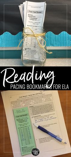 Reading bookmarks to help students with PACING, meeting deadlines, vocabulary, and more!