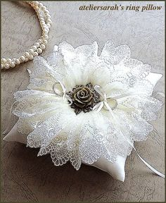 Patchwork Kissen Hochzeit 27 Ideas For 2019 - Pink Unicorn Wedding Ring Cushion, Wedding Pillows, Cushion Ring, Ring Bearer Pillows, Ring Pillows, Crazy Patchwork, Patchwork Pillow, Pillow Crafts, Lace Ring