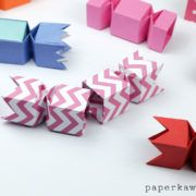 Origami Candy Box Opening Version Tutorial