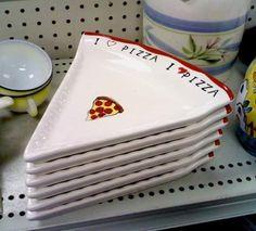A set of six ceramic pizza-slice plates.A set of six ceramic pizza-slice plates. Cool Kitchen Gadgets, Kitchen Items, Cool Kitchens, Kitchen Decor, Cute Kitchen, Country Kitchen, Ceramic Pottery, Pottery Plates, Ceramic Plates