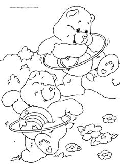 Care Bears Free Coloring Sheet - Coloring pages for kids Bear Coloring Pages, Coloring Sheets For Kids, Printable Coloring Pages, Coloring Pages For Kids, Coloring Books, Coloring Stuff, Care Bears, Care Bear Tattoos, Bear Sketch