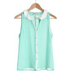 Mint as Well Top - Polyvore